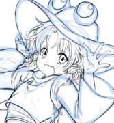 描き途中〜の諏訪子ちゃん
