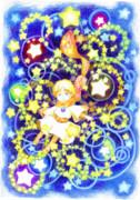 星巡る少年【色鉛筆画】