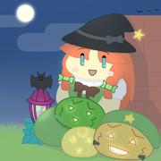紅魔館ハロウィンパーティのお出迎えをする美鈴