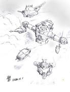 分離飛行中の「アシタノガンダム」