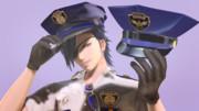 警察官風帽子(〇クーン警察風にしたか…った…)2種
