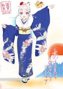 【2020年迎春】リゼ・ヘルエスタ 「鶴と花」