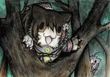 木登りする大和猫