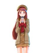 温かい飲み物で