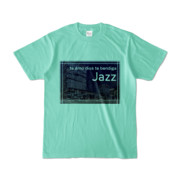 Tシャツ アイスグリーン Jazz_Night_F