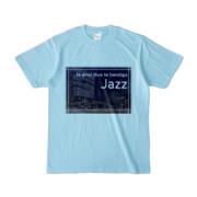 Tシャツ ライトブルー Jazz_Night_F