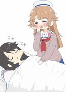 シロちゃんの寝顔を見に来たココちゃん!