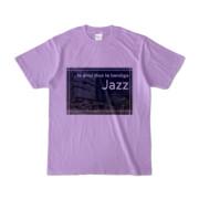 Tシャツ ライトパープル Jazz_Night_F