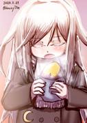 さつまいもを食べる菊月