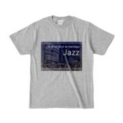 Tシャツ 杢グレー Jazz_Night_F