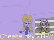 鉄道高架下の自転車駐輪場でチーズバーガーを持つ少女