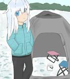 ヴェールヌイとワカサギ釣り