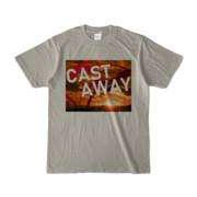 Tシャツ シルバーグレー CAST_AWAY_SUNRISE