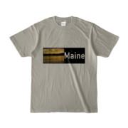 Tシャツ シルバーグレー Maine_Lake