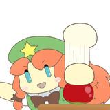 リンゴをスパーンと切るイメージの美鈴