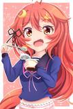 プリン食べるうーちゃん!