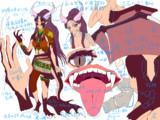 ペトラをドラゴン娘にしてみた(設定資料)