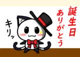 ポジティブ猫ヤミーくん  「キリッ」