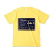Tシャツ イエロー Jazz_Night_F