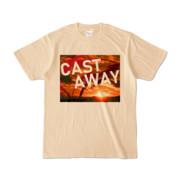 Tシャツ ナチュラル CAST_AWAY_SUNRISE