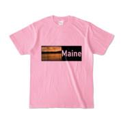 Tシャツ ピーチ Maine_Lake