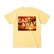 Tシャツ ライトイエロー CAST_AWAY_SUNRISE