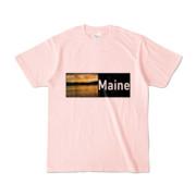Tシャツ ライトピンク Maine_Lake