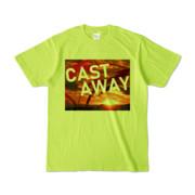 Tシャツ ライトグリーン CAST_AWAY_SUNRISE