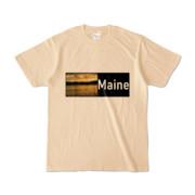 Tシャツ ナチュラル Maine_Lake