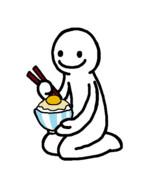卵かけご飯を食してるけど醤油かけるの忘れた人間
