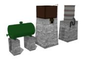 高山鉄道の給水塔&燃料貯蔵タンク