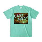 Tシャツ アイスグリーン CAST_AWAY_SUNRISE