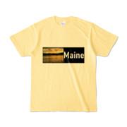 Tシャツ ライトイエロー Maine_Lake