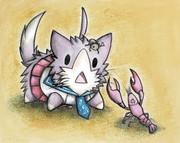 酒匂猫とザリガニ