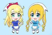 乃愛ちゃんに夏帆ちゃんと同じ制服を着せてみた。