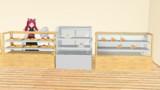 【MMDモデル配布】パン屋にある陳列棚セット