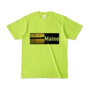 Tシャツ ライトグリーン Maine_Lake