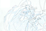 アニメーション用ゆかりさん・銃(5枚目・色鉛筆