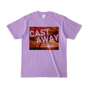 Tシャツ ライトパープル CAST_AWAY_SUNRISE