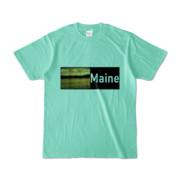 Tシャツ アイスグリーン Maine_Lake