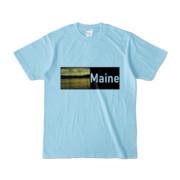 Tシャツ ライトブルー Maine_Lake
