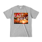 Tシャツ 杢グレー CAST_AWAY_SUNRISE