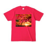 Tシャツ ホットピンク CAST_AWAY_SUNRISE