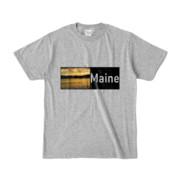 Tシャツ 杢グレー Maine_Lake