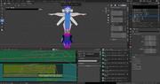 VRoidで二人目のオリジナルキャラが装備するアーマーの製作途中画面