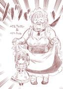 ベルファストとベルちゃん(漫☆画太郎先生風)