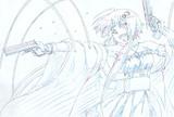 アニメーション用ゆかりさん・銃(6枚目・色鉛筆