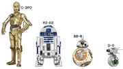 R2-D2、C-3PO、BB-8、D-O