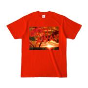 Tシャツ レッド CAST_AWAY_SUNRISE