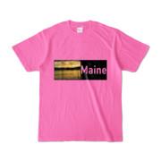 Tシャツ ピンク Maine_Lake